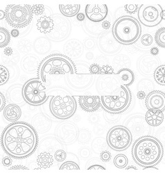 Cogs and gears background vector