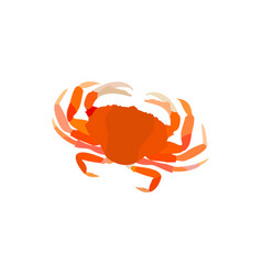 crab steamed crab serrated mud crab crab vector image