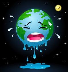 Crying earth vector