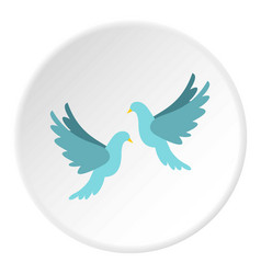 doves icon circle vector image
