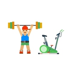 Fitness gym sport people icon vector image vector image