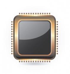 Golden chip vector