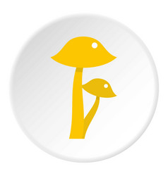 Honey fungus icon circle vector