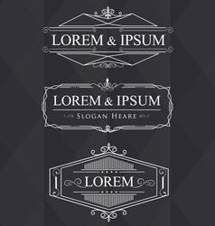 luxury flourishes calligraphic elegant ornament vector image vector image