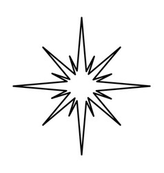 Manger star silhouette isolated icon vector