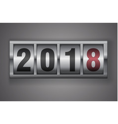 new year mechanical counter showing 2018 vector image