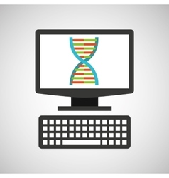 Online education technology genetics structure vector