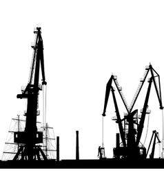 Port crane silhouette vector