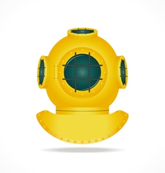 Retro diving helmet vector