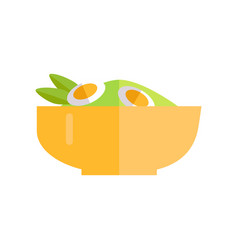 Salad with vegetables and eggs vector