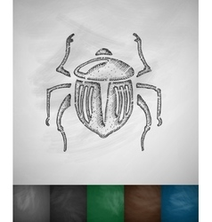 Scarab icon vector