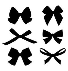 Set of vintage bows vector image
