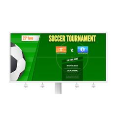 Soccer or european football tournament on vector