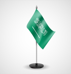 Table flag of saudi arabia vector