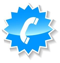 Telephone blue icon vector