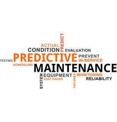 Word cloud - predictive maintenance vector