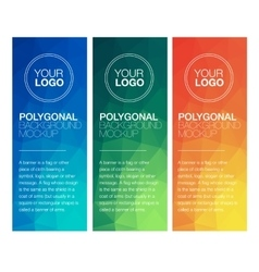 Vertical polygonal banners vector