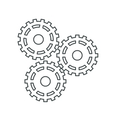 Gears of under construction concept vector