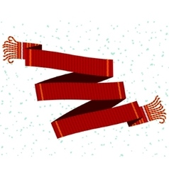 Knitted winter scarf vector