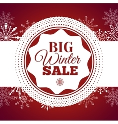 Winter sale poster vector