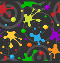 Splash seamless pattern dark colorful hand drawn vector