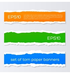 Torn colorful banners vector