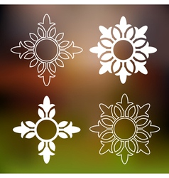 Abstract floral design elements vector