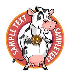 milk brand vector image