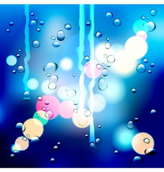 Drops on the glass vector
