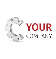 abstract logo design template vector image
