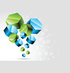3d hexagon vector image vector image