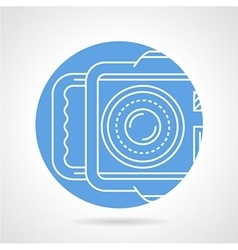 Camera blue round icon vector