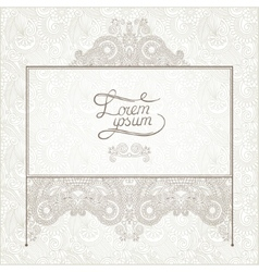 Light floral frame on paisley background with vector