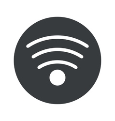 Monochrome round wi-fi icon vector