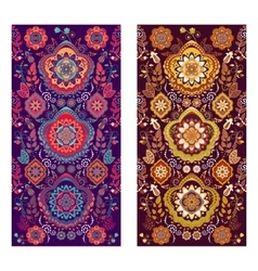 Two paisley covers or stickers on phone vector