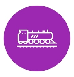 Train line icon vector