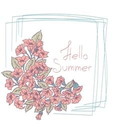 Summer floral card vector