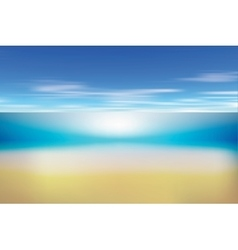 Summer background with white sand sea and sky vector