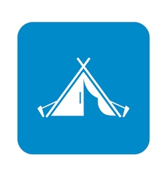 Tentstylized icon of tourist tent vector