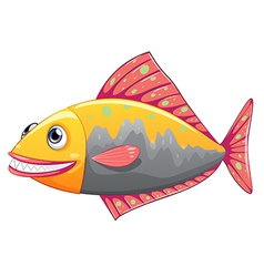 A colorful big fish vector image vector image