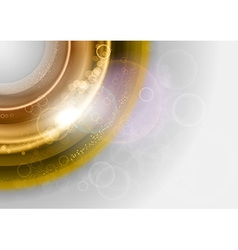 background gold round vector image vector image