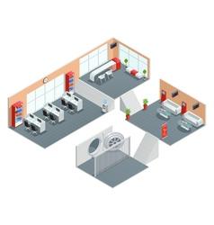 Bank interior design vector