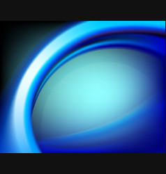 blue oval background vector image vector image