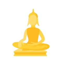 Buddha statue icon cartoon style vector