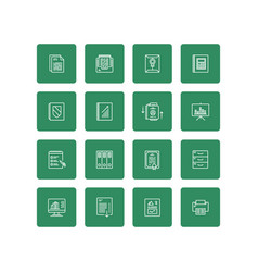 business documents finance simple icon set vector image vector image