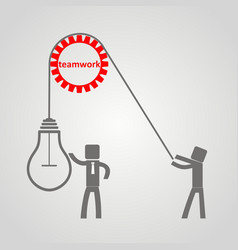 concept of leadership - working lifts a light vector image