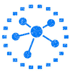 dotted links diagram grunge icon vector image