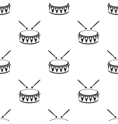 Drum black icon for web and mobile vector image vector image