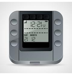 Electronic clock vector