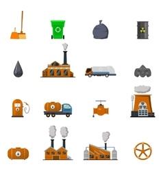Environmental pollution icon set vector